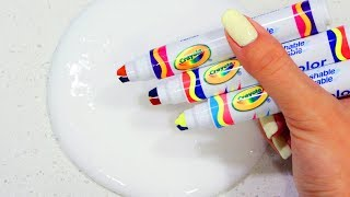 Satisfying Slime Coloring with Tricolor Crayola Markers! 3 Colors in 1 Marker!