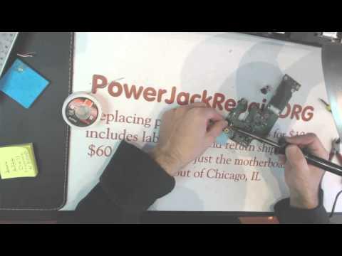DELL N5010 broken laptop dc power jack repair socket input port connector fix