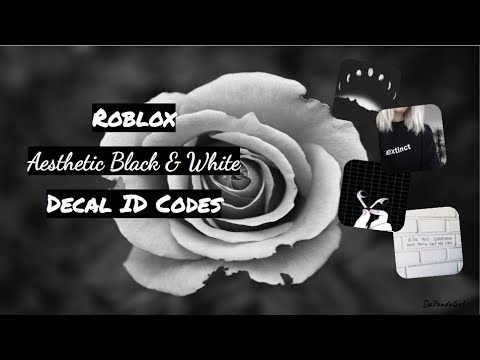 ROBLOX | Welcome to Bloxburg: ♡Aesthetic Black & White ID Codes♡