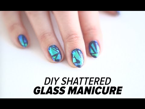 DIY Shattered Glass Nail Art Tutorial | Beauty Junkie