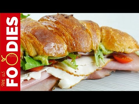 The GREATEST Croissant Club Sandwich EVER!!