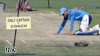 Fans throng Eden Gardens to watch Dhoni practice