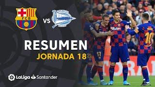 Resumen de FC Barcelona vs Deportivo Alavés (4-1)