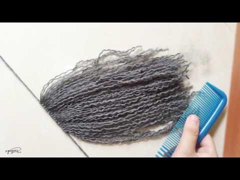 [206pro]Tutorial - Yarn doll hair for crochet doll (Part 1-Making hair)