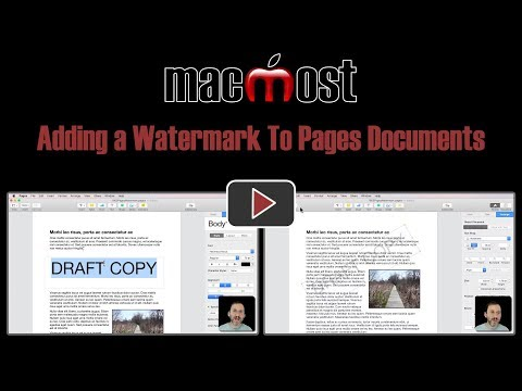 Adding a Watermark To Pages Documents (MacMost #1805)