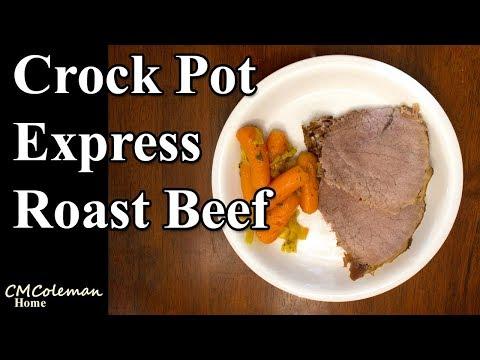 Crock Pot Express Crock Roast Beef, Carrots, and Onions Recipe