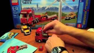LEGO 7747 MOC Windturbine transport Scania V8 heavy load
