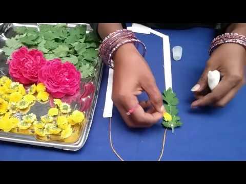 How to make garland easily,garland for christmas,rose&champa garland,kalasam decaration