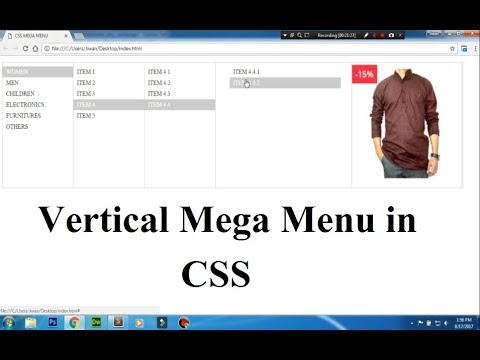 CSS Tutorial On Vertical Mega Menu - A Complete Guide