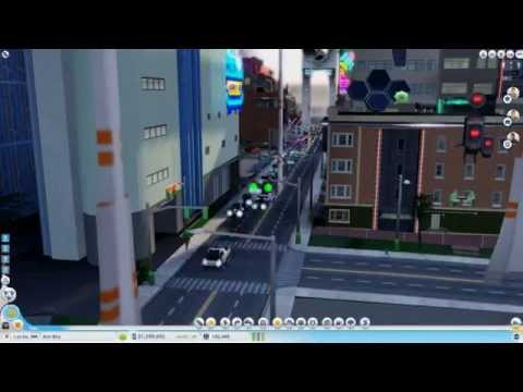 SimCity 2013 - Cities of Tomorrow - Traffic Jam in high speed