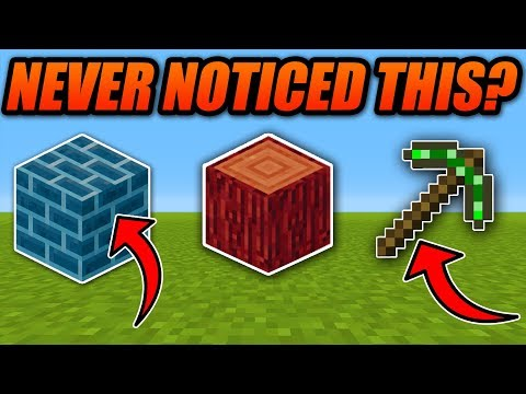 Things You May Have NEVER NOTICED In Your Minecraft World! - Minecraft Xbox/PE/Java Top 10 Secrets