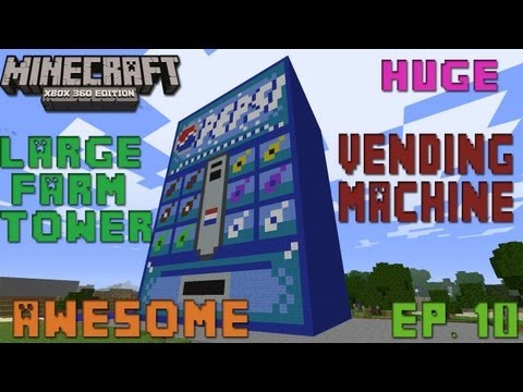 Minecraft Xbox 360 - Awesome World's Ep. 11 ( Largest Minecraft Vending Machine & More) *Download*