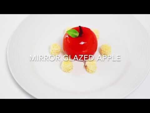 How to make Mirror Glazed Apple Shaped Dessert
