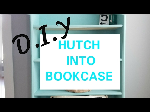 DIY:HOW TO MAKE A BOOKSHELF FROM A HUTCH