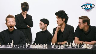 Can 4 Guys Beat A Blindfolded Chess Master? • The Try Guys: 4 Vs. 1
