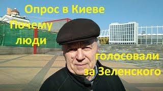 Зеленский Почему люди за него голосовали Выборы 2019 Опрос в Киеве Иван Проценко