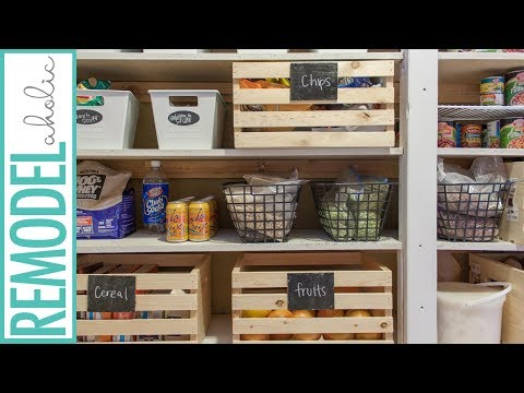 Dollar Store Pantry Organization: Organize a Large Pantry on a Budget!