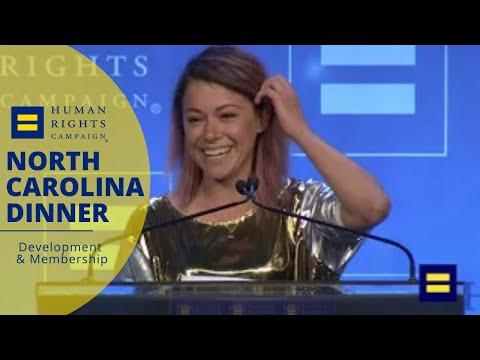 Tatiana Maslany Receives Ally for Equality Award at 2018 HRC North Carolina Gala