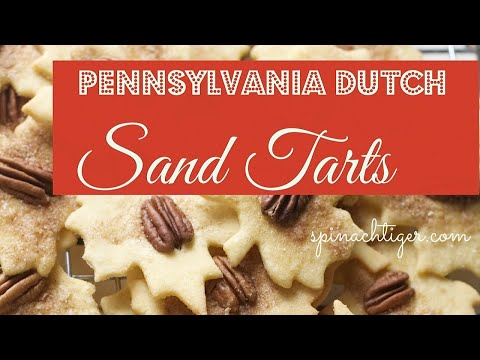 Pennsylvania Dutch Sand Tarts
