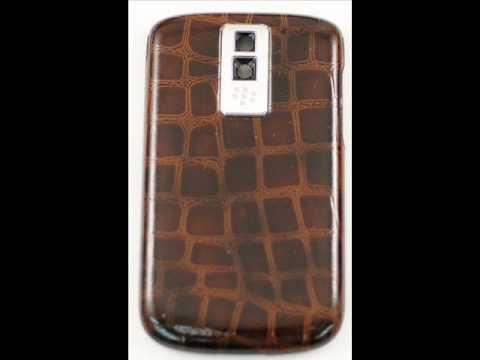 BlackBerry Bold 9000 OEM brown crocodile skin battery cover