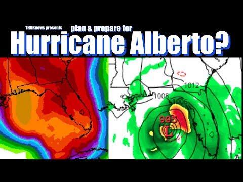 Plan & Prepare for Hurricane Alberto! Gulf Coast USA.