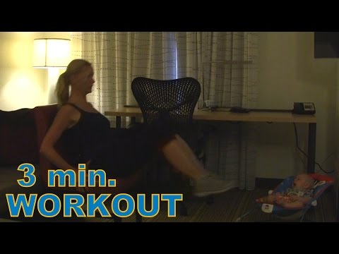 3 min. Full Body workout at home★ Quick workout for busy moms - with Fitappy