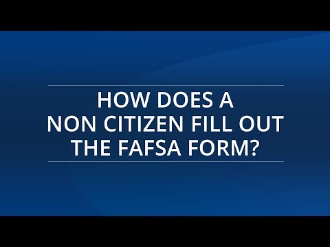 How Does a Non Citizen Fill Out the FAFSA Form?