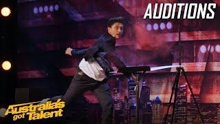Funny Magician That Blows the Judges Minds   Auditions   Australia's Got Talent