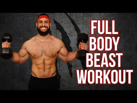 12 Minute Home Full Body Workout Using Only Dumbbells (Build Muscle With This Dumbbell Workout!!)