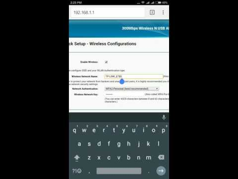 How to Configure Modem ADSL TP-Link TD-W8968 By Smart Phone