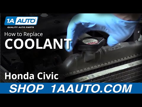 How to Drain and Refill Antifreeze 2003 Honda Civic