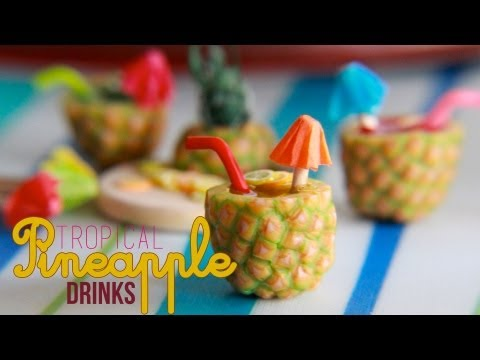 Tropical Pineapple Fruit Drinks - How To Make a Pineapple Cane with Polymer Clay