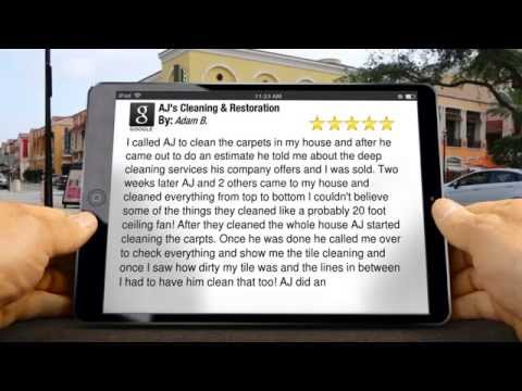 AJ's Cleaning & Restoration Des Moines Perfect  Five Star Review by Adam B.