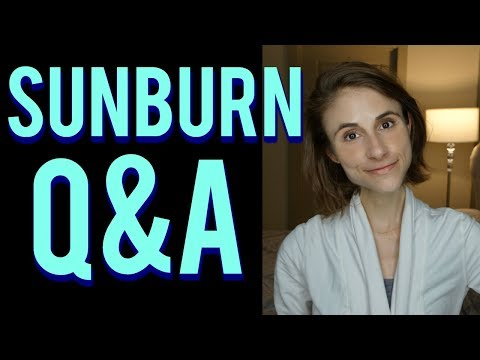 Sunburn Q&A with a dermatologist: skin care tips ☀🔥😓