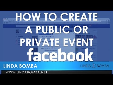 How To Create A Public or Private Event On Facebook