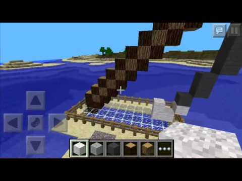 How to build a pixel art fishing rod in minecraft pc/pe
