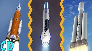The New Space Race to the Moon between NASA, SpaceX and Blue Origin