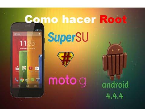 Como hacer root, moto g android 4.4.4 kitkat facil rapido & seguro