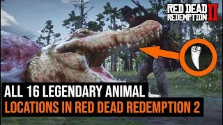 All 16 Legendary Animal Locations In Red Dead Redemption 2