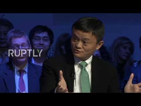 Switzerland: Alibaba founder Jack Ma slams the US' economic policies