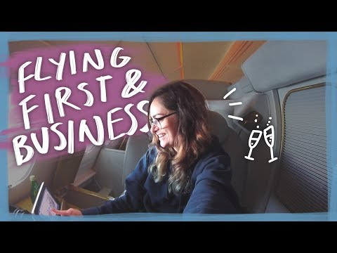 NZ to London on Emirates First & Business Class! 😱 | Travel vlog