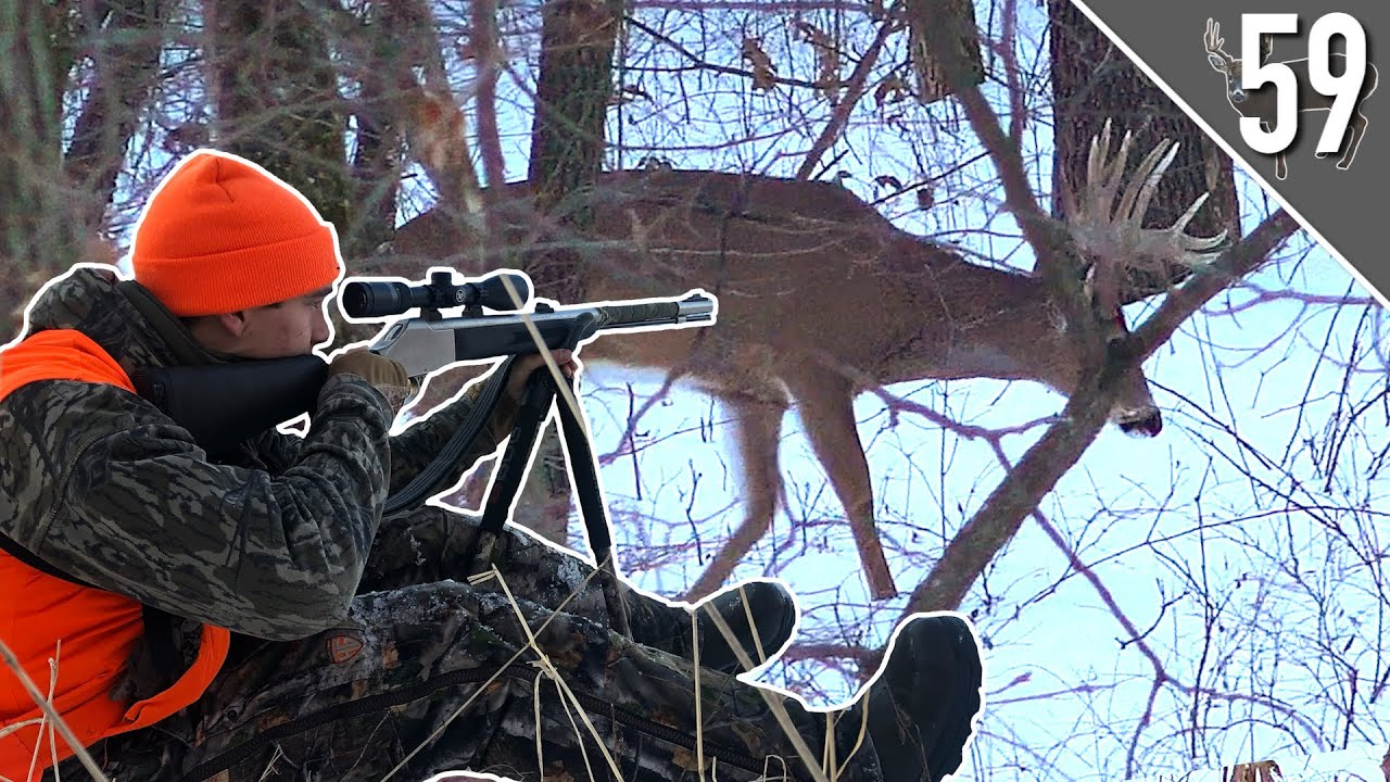 GIANT BUCK in the SNOW! (SHOT FIRED!) - Iowa PUBLIC LAND Hunting