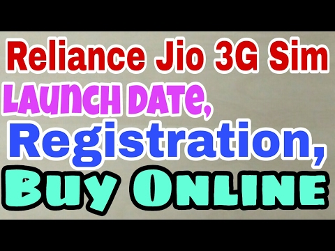 Reliance Jio 3G Sim Launch Date, Registration, Buy Online | indian techno guy
