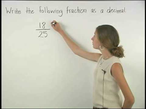 Fractions to Decimals - MathHelp.com - Math Help