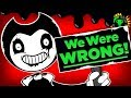 Game Theory We Were TOTALLY WRONG What Bendys Ending REALLY Meant Bendy And The Ink Machine