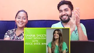INDIANS react to Sanam Saeed Funny interview with Voice Over Man