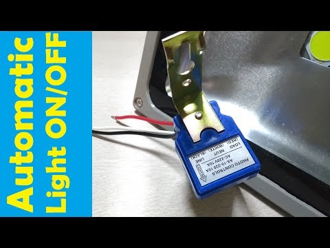 Install Automatic light sensor switch | LED Floodlight | Auto Day/Night off & On