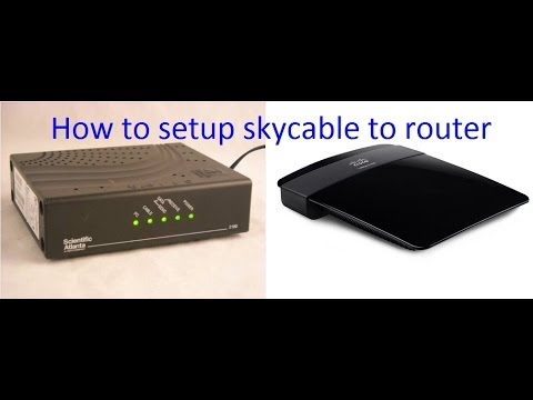 sky cable broadband to router configuration (linksys E1200)