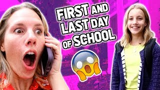 SURPRISE First and LAST Day of School 😱
