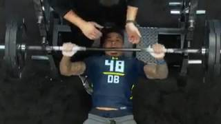 "Teez Tabor Does Only 9 Reps On Bench Press After Calling Himself ""The Best Player in The Draft"""